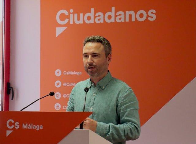 El coordinador de Ciudadanos en Málaga y diputado en el Congreso, Guillermo Díaz.