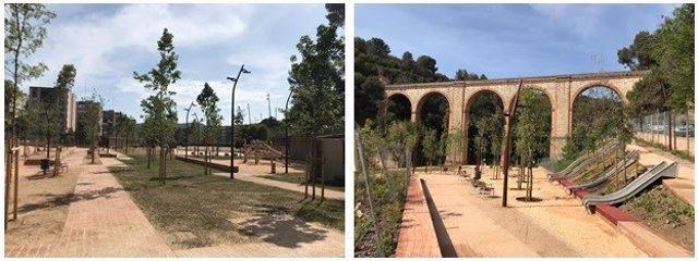 Futur parc de l'Aqüeducte al barri de Ciutat Meridiana.