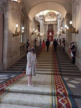 La valenciana Marta Muñoz, primera persona con síndrome de down en recibir la Real Orden del Mérito Civil.