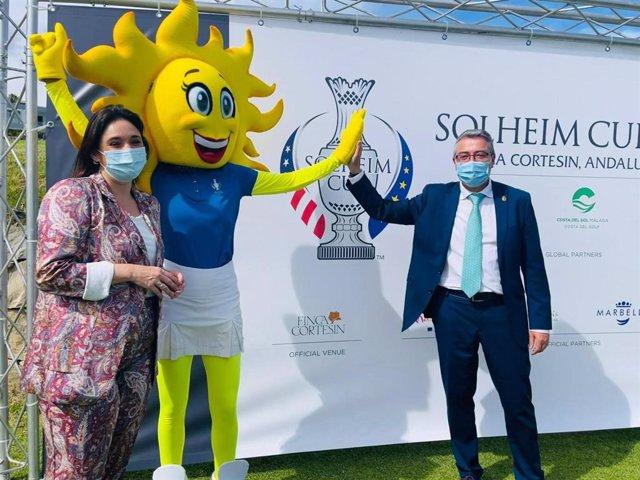 Acto de presentación de Sol,  la mascota oficial de la Solheim Cup 2023