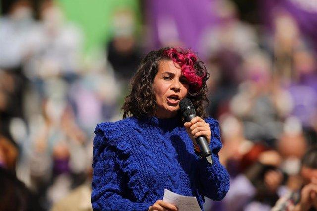 Archivo - La 'número 3' de Unidas Podemos para las elecciones a la Asamblea de Madrid, Vanessa Lillo.