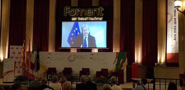 El comisario de Asuntos Económicos y Monetarios de la Unión Europea, Paolo Gentiloni