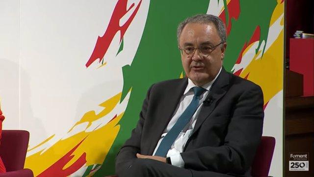 El conseller delegat de Cellnex Telecom, Tobías Martínez, en el XVIII Fòrum de Diàleg Espanya-Itàlia