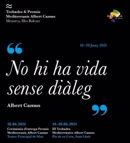 Cartel de la III edición de las Trobades y Premios Albert Camus 2021
