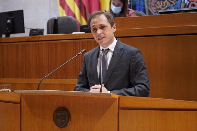 El portavoz de Educación de Ciudadanos, Carlos Trullén.