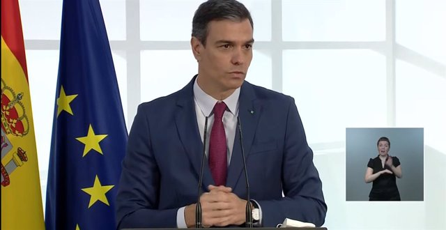 El president del Govern, Pedro Sánchez, en un acte en La Moncloa en homenatge a la comunitat educativa.