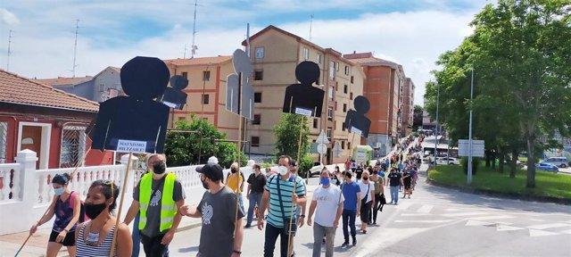 Marcha en los pueblos de la  Margen Izquierda contra la precariedad