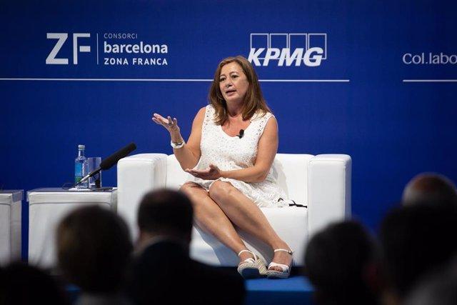 Francina Armengol esta semana en Barcelona