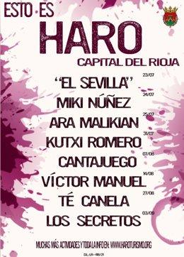 CARTEL ACTIVIDADES DE HARO