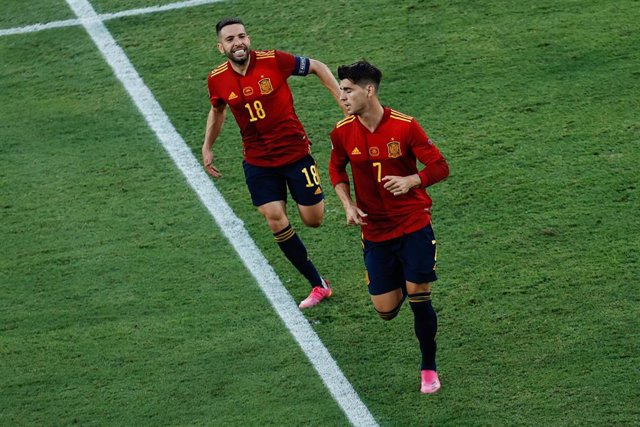 España - Polonia, Álvaro Morata