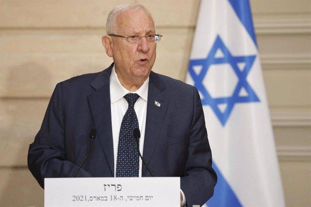 Archivo - El presidente de Israel, Reuven Rivlin