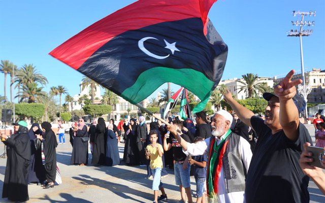 Archivo - Bandera de Libia