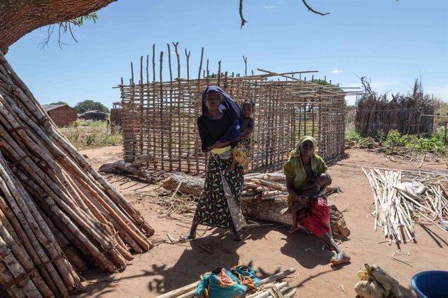 Desplazados por la violencia en Cabo Delgado, Mozambique