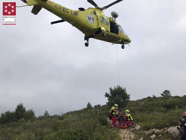 Rescate a un senderista en Alcalà de Xivert (Castellón)