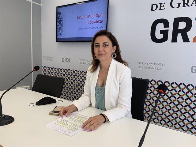 La viceportavoz del PSOE en el Ayuntamiento de Granada Raquel Ruz
