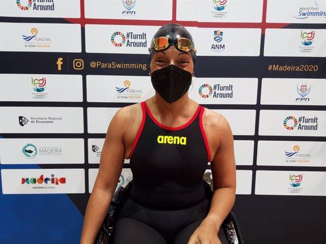 Archivo - La nadadora española Teresa Perales durante el Europeo de Madeira 2021