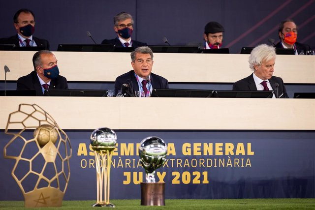 BARCELONA, SPAIN - JUN 20 Asamblea general ordinaria 2021 (Foto de Germán Parga/FC Barcelona)