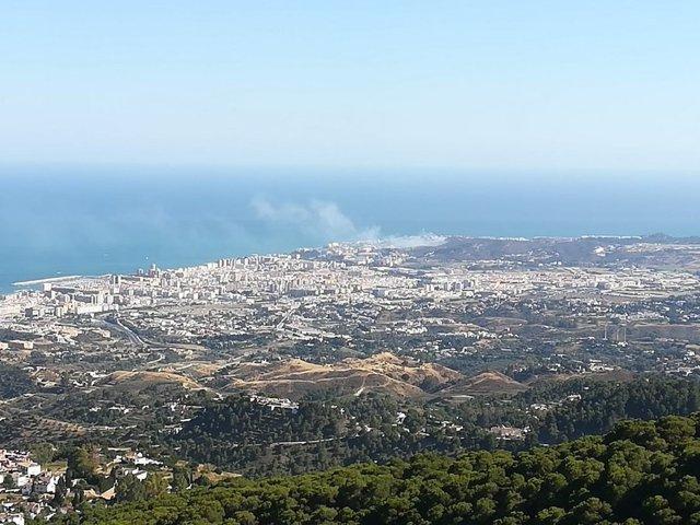 Incendio declarado este domingo, 20 de junio, en Mijas