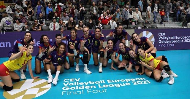 Las Leonas del Vóley conquistan el bronce en la European Golden League