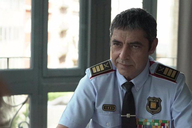 El major dels Mossos d'Esquadra, Josep Lluís Trapero, en una entrevista en Tv3.