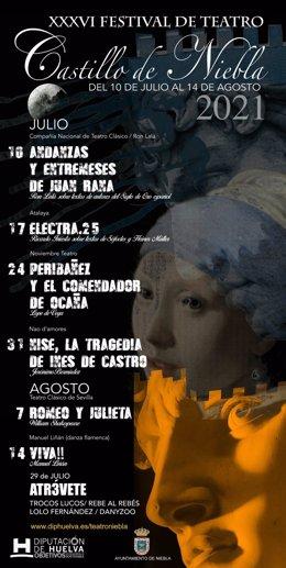 Cartel de la 36 edición del Festival Castillo de Niebla.
