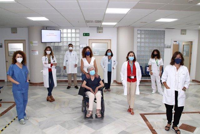 Miembros de la consulta multidisciplinar de ELA del Hospital Macarena