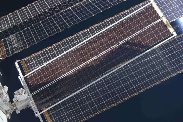 Nuevo panel solar par la ISS