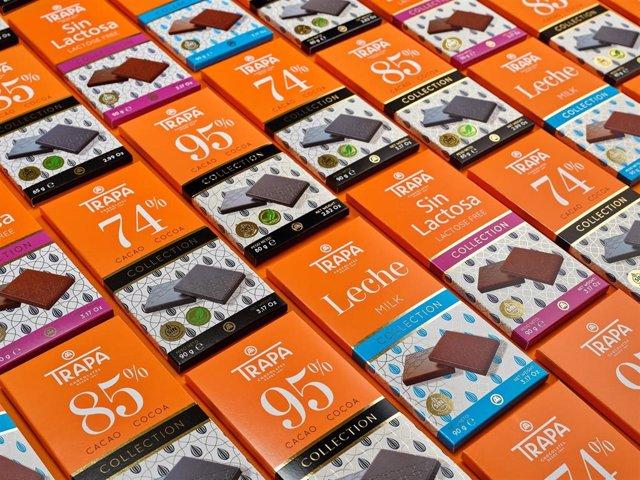 Tabletas de chocolate de Chocolates Trapa