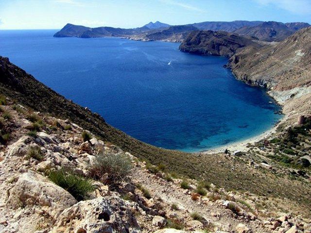 Cala Rajá, en el Parque Natural de Cabo de Gata-Níjar (Almería)