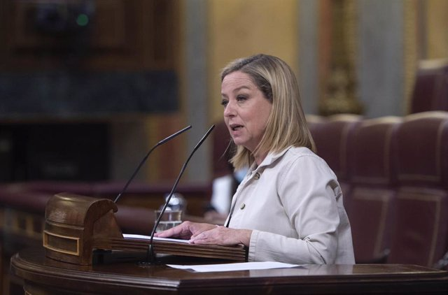 Archivo - La diputada de Coalición Canaria, Ana Oramas, interviene en una sesión plenaria en el Congreso de los Diputados