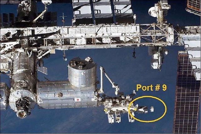 Ubicación del instrumento CALET en la Estación Espacial