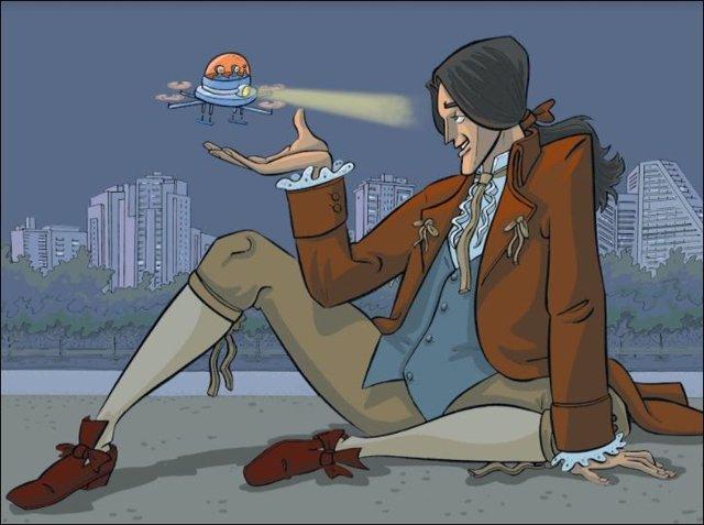 Gulliver y el dron -