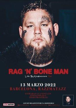 Cartell del concert de Rag'n' Bone Man a Barcelona.