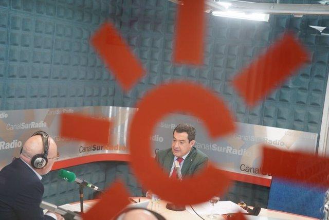El president de la Junta d'Andalusia, Juanma Moreno, Juanma Moreno, aquest dilluns.