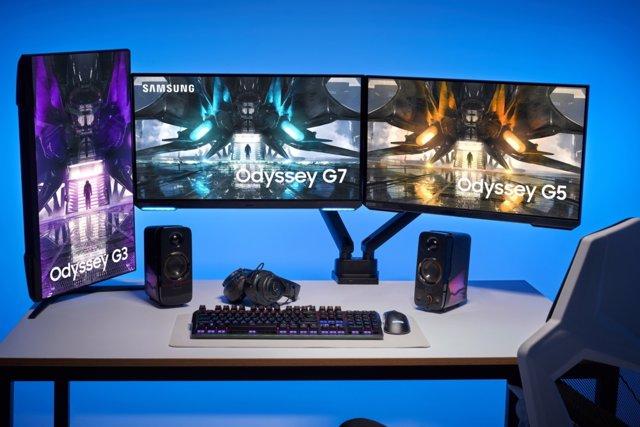 Nuevos monitores 'gaming' Samsung Odyssey presentados en 2021.