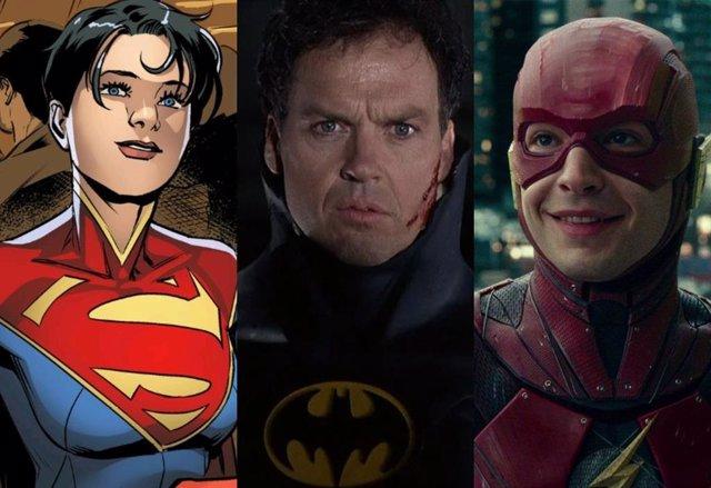 Supergirl, Bruce Wayne y Barry Allen captados en el rodaje de The Flash