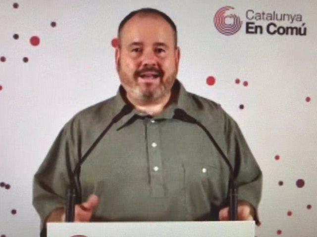 El portaveu dels comuns, Joan Mena.