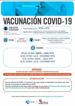 Nueva convocatoria de vacunas en Ciudad Rodrigo.
