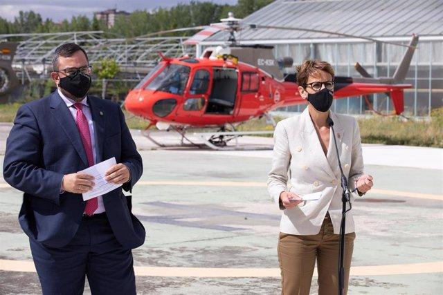 Javier Remírez y María Chivite.
