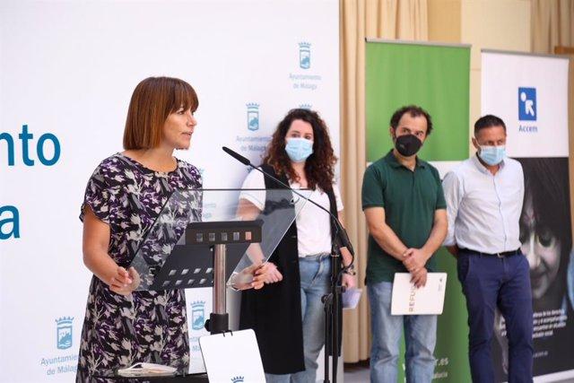 La concejala delegada de Participación Ciudadana, Ruth Sarabia, en rueda de prensa