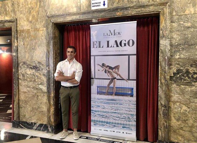 Victor Jiménez, director artístico de LaMov, durante la presentación de la vuelta de 'El Lago' a Zaragoza