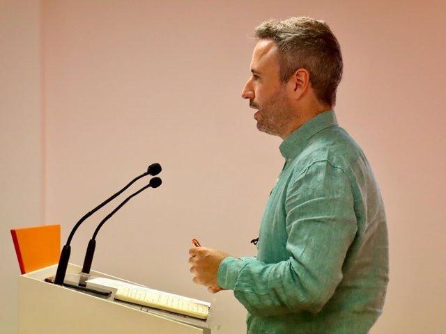 El responsable de Comunicación de Ciudadanos (Cs) Andalucía, miembro del Comité Permanente y diputado nacional por Málaga, Guillermo Díaz,