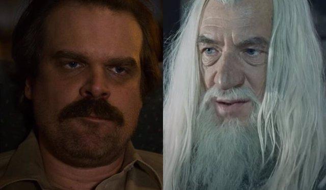 El regreso de Hopper en Stranger Things 4 será como la resurrección de Gandalf en El Señor de los Anillos