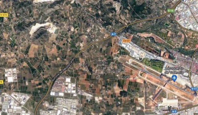 Zona del Aeropuerto de Manises (Valencia)