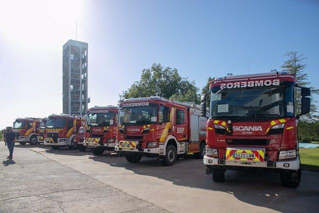 Los nuevos camiones de bombero para la provincia