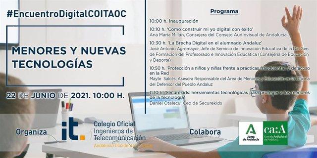 Cartel informativo del cartel 'Menores y nuevas tecnologías'