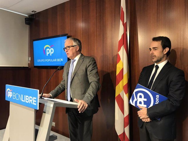 Archivo - Arxiu - Josep Bou i Óscar Ramírez (PP).