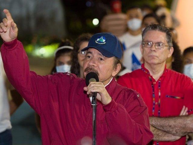 Archivo - El presidente de Nicaragua, Daniel Ortega