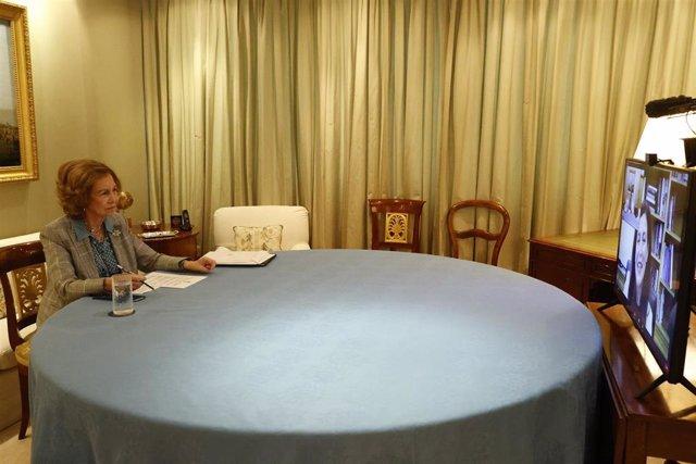 La reina Sofía preside una reunión con investigadores y asociaciones con motivo del Día Mundial del la ELA