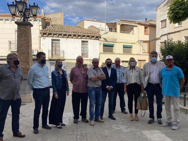 Visita del presidente del PP de Aragón, Luis María Beamonte, a Sariñena,
